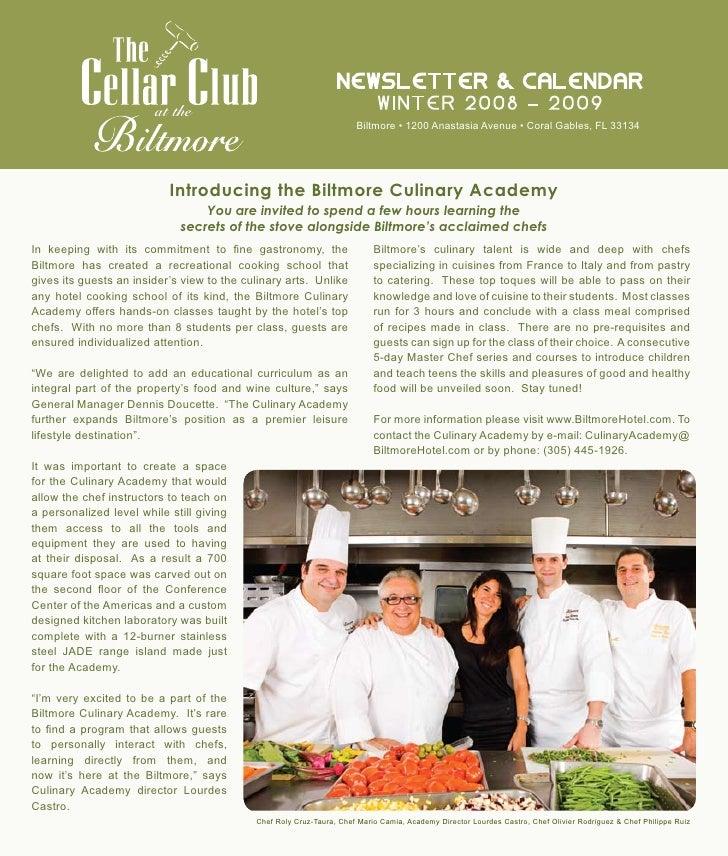 Newsletter & CaleNdar                         at the                                              wiNter 2008 – 2009      ...