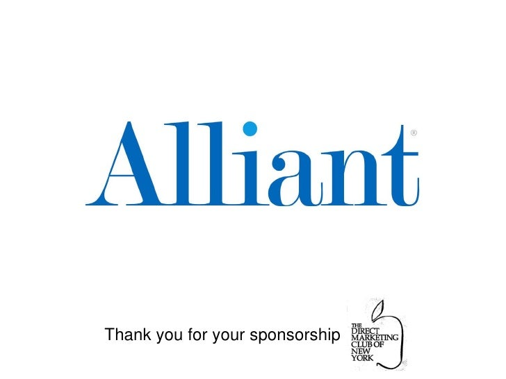 Thank you for your sponsorship