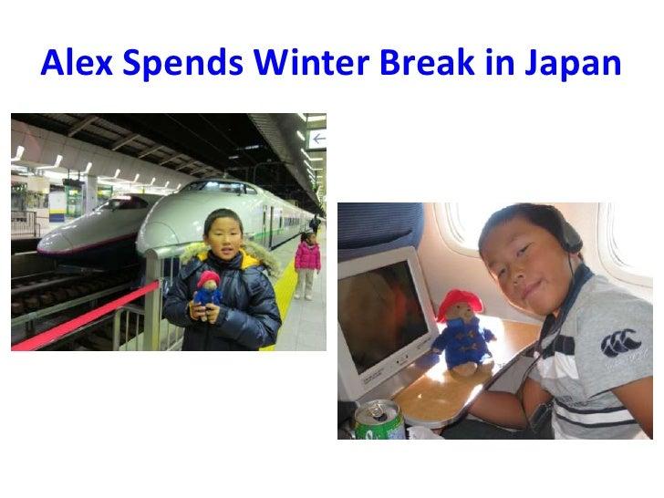 Alex Spends Winter Break in Japan<br />