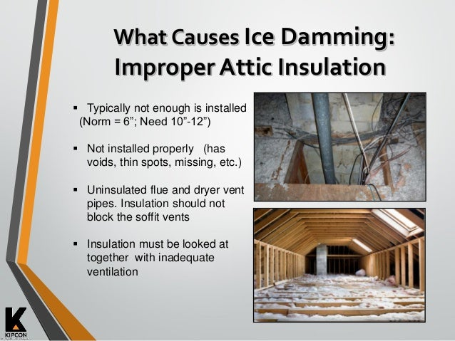 Winter Concerns Ice Damming De Icing Chemicals Amp Other