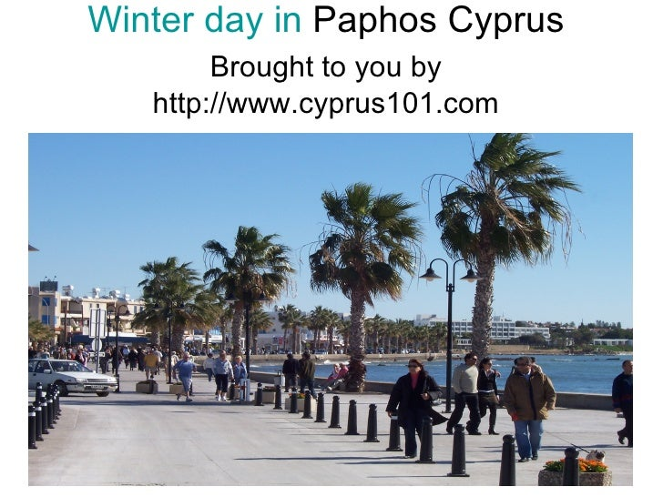 Winter day in  Paphos Cyprus Brought to you by   http://www.cyprus101.com