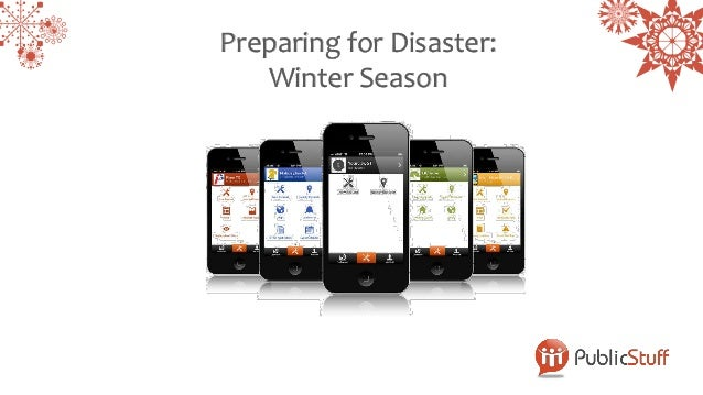 Preparing for Disaster:   Winter Season
