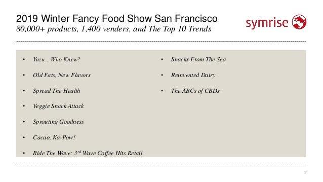 Winter Fancy Food Show Top Trends 2019 Slide 2
