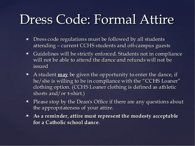 Cchs Winter Formal 2014 Information