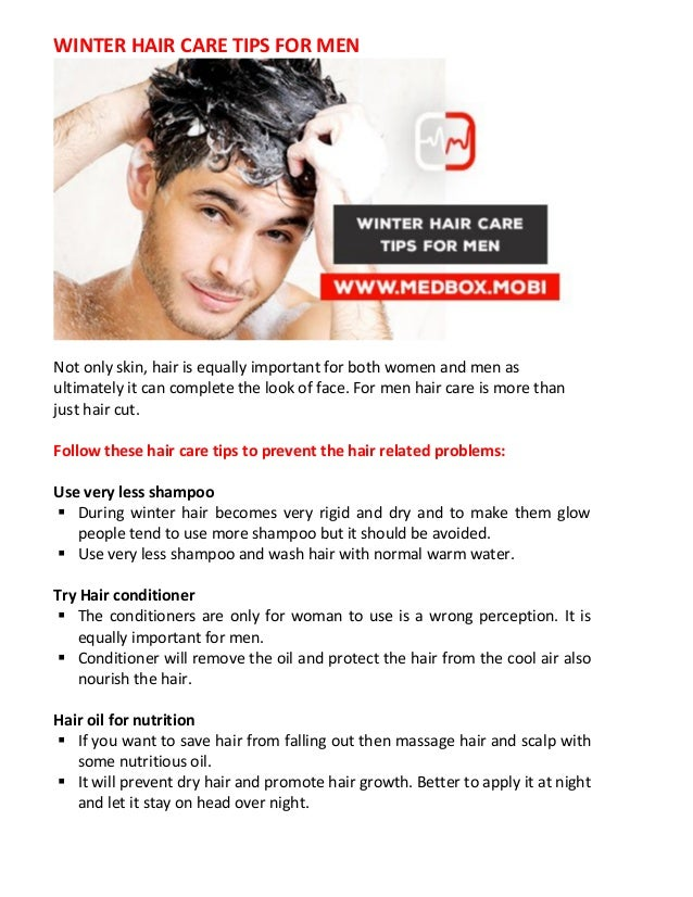 Winter Hair Care Tips For Men