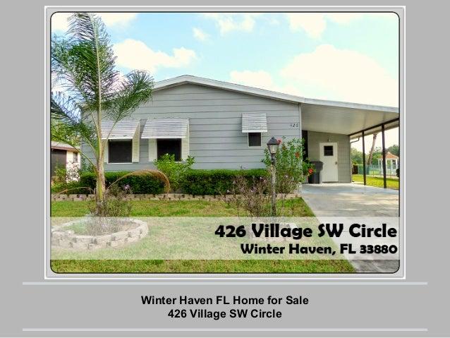 Winter Haven FL Home for Sale 426 Village SW Circle