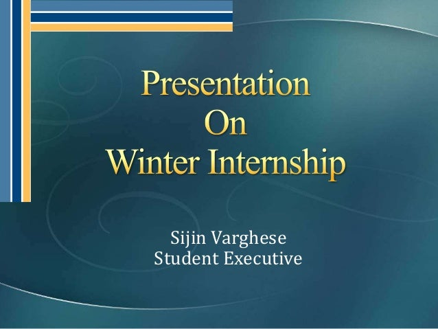Sijin VargheseStudent Executive