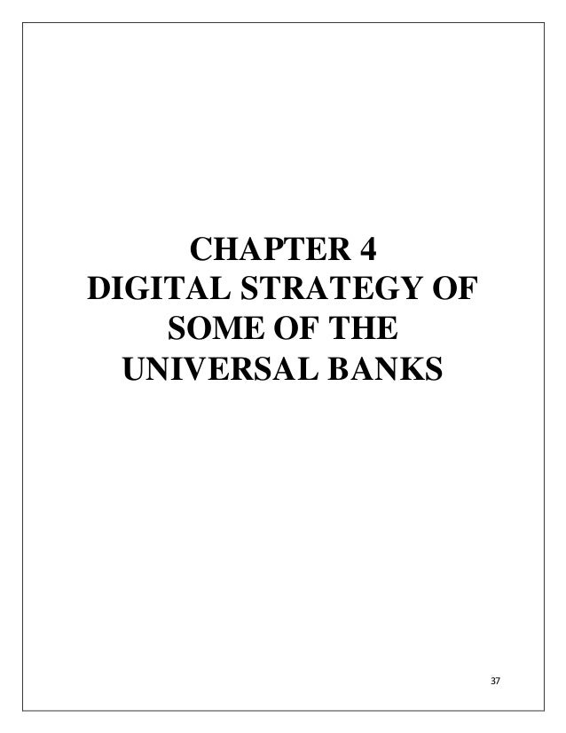 AN IN-DEPTH ANALYSIS OF PAYMENT BANKS