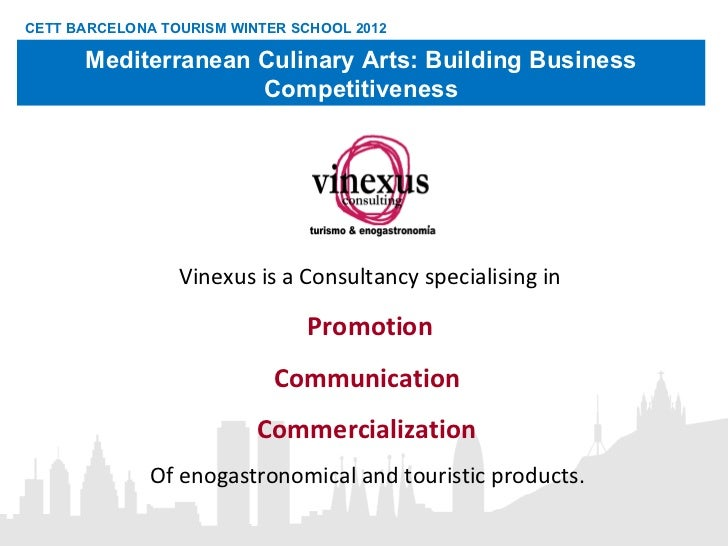 Vinexus is a Consultancy specialising in Promotion Communication  Commercialization  Of enogastronomical and touristic pro...
