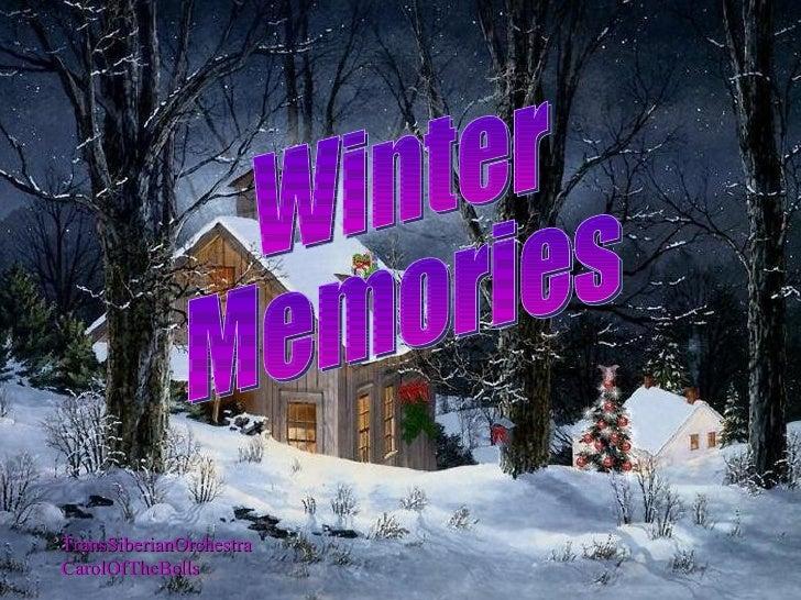 TransSiberianOrchestra CarolOfTheBells Winter  Memories