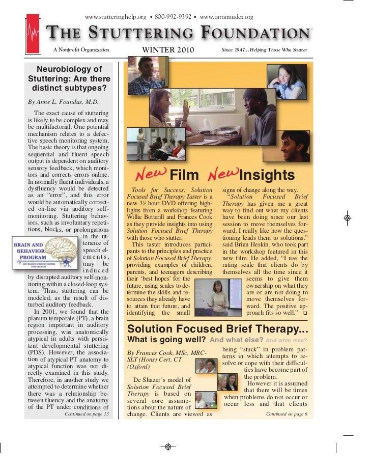 www.stutteringhelp.org • 800-992-9392 • www.tartamudez.org       T HE S TUTTERING F OUNDATION          A Nonprofit Organiz...