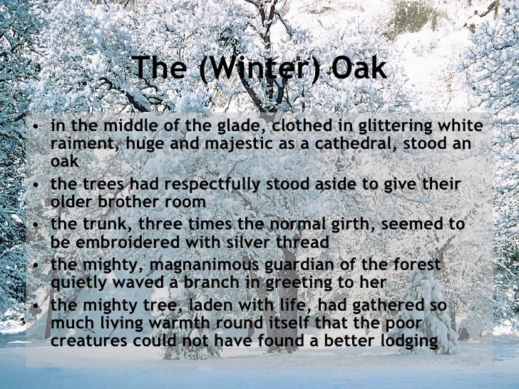 winter oak yuri nagibin To explore the teacher/pupil relationship in the stories:  and the author of the winter oak is yuri nagibin  the winter oak and the pieces of silver.