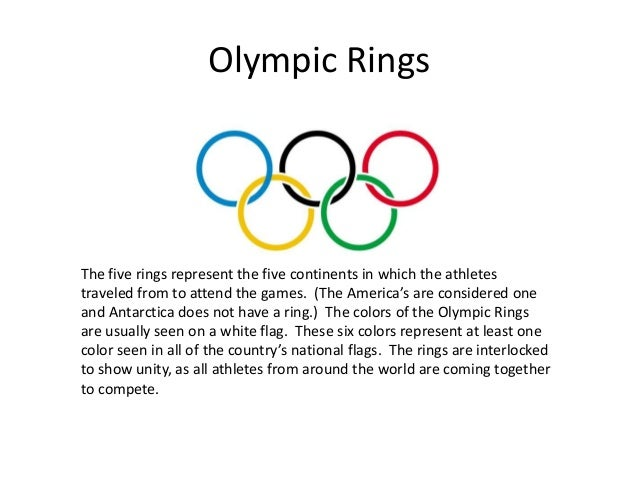 what do the five olympic rings symbolize