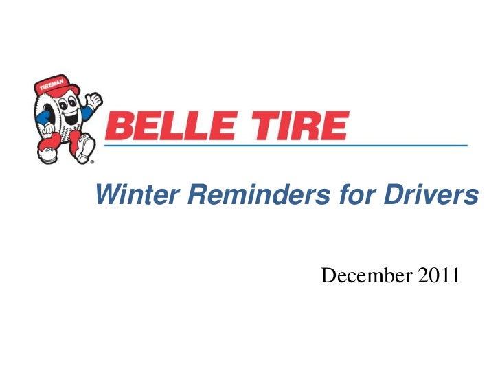 Belle tire brands