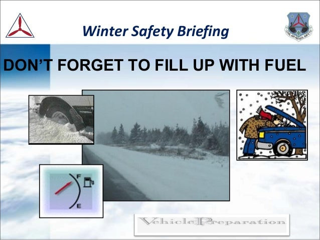Winter Safety Briefing By Swrcap