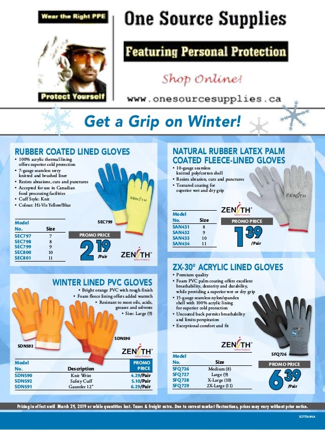 Get a Grip on Winter! Pricing in effect until March 29, 2019 or while quantities last. Taxes & freight extra. Due to curre...