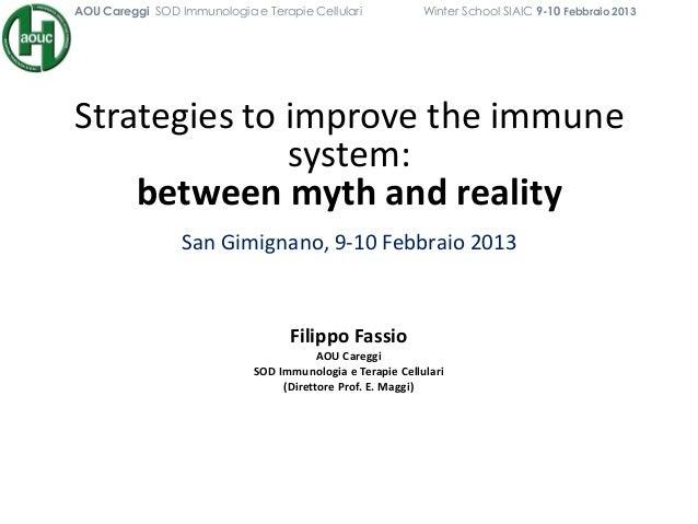 AOU Careggi SOD Immunologia e Terapie Cellulari             Winter School SIAIC 9-10 Febbraio 2013Strategies to improve th...