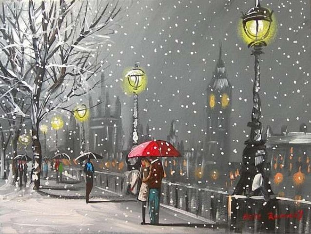 Snow Scene Painting Images