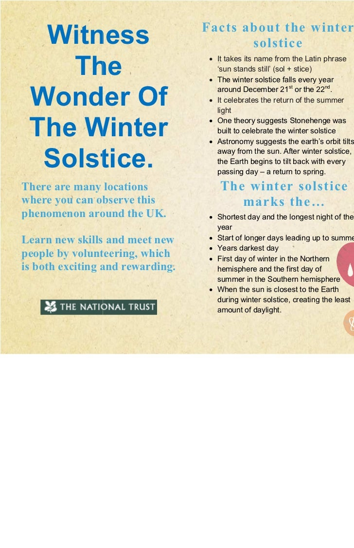 Facts about the winter  Witness                                solstice                                                   ...