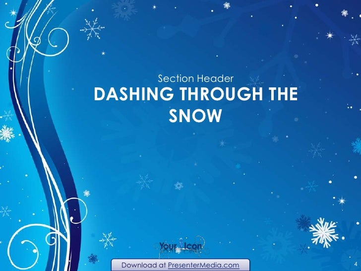 Winter Swirl PowerPoint Template – Winter Powerpoint Template