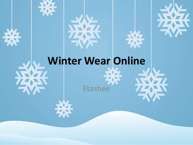 Winter Wear Online Etashee