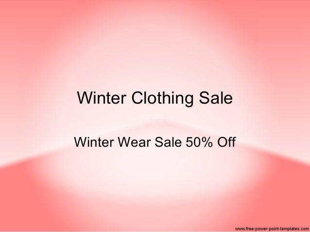 Winter Clothing Sale Winter Wear Sale 50% Off