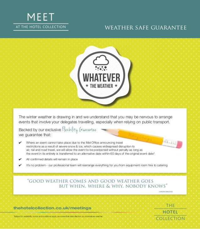 The winter weather is drawing in and we understand that you may be nervous to arrange  events that involve your delegates ...