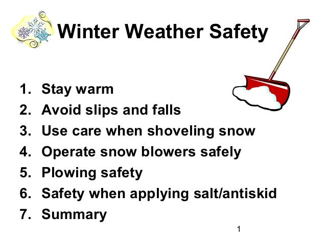 Winter Weather Safety by PSUE
