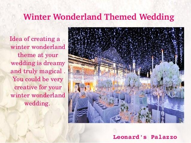 Winter Wedding Themes 2015