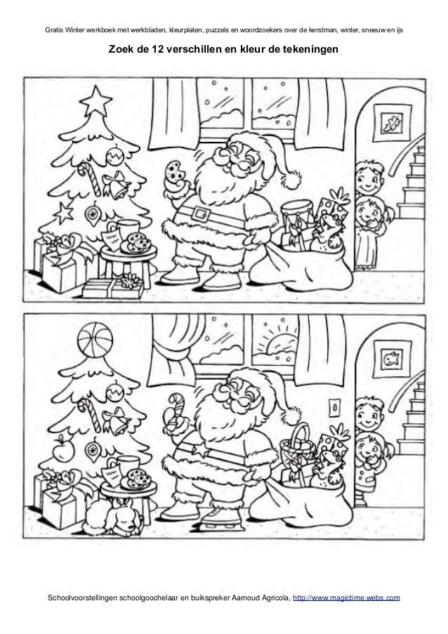 Winter Werkboek Met Werkbladen Van Schoolgoochelaar Aarnoud Agricola