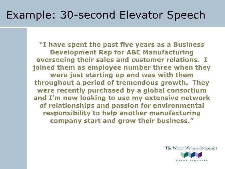 30 second speech example