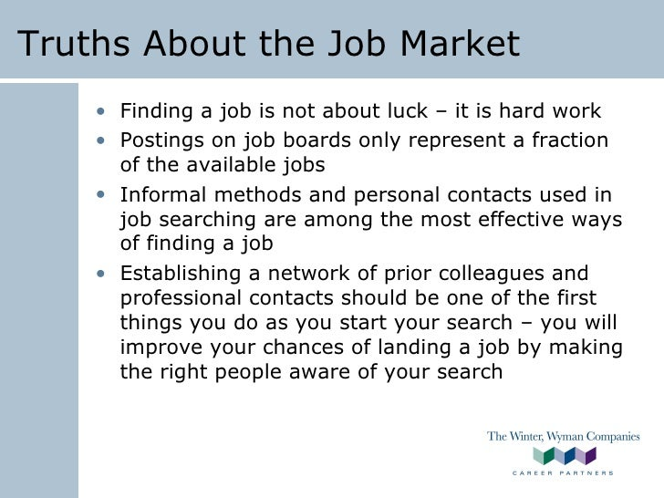 Winter Wyman Job Search Techniques Job Search Advice Staffing F