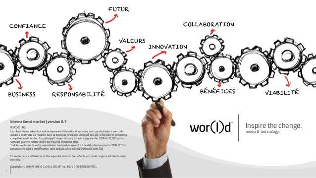 1 Inspire the change. media & technology. International market | version 0.7 DISCLOSURE: Les illustrations suivantes sont ...