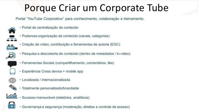 Porque Criar um Corporate Tube