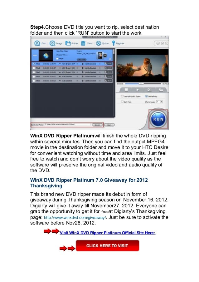 Winx dvd ripper platinum 7 0 Review and Giveaway