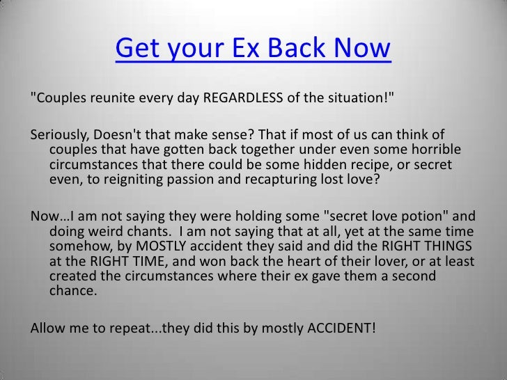Get Ex Win How Back Ur To dont forget