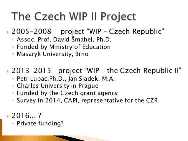 World Internet Project Czech republic 2014 Preliminary data presentation Slide 2