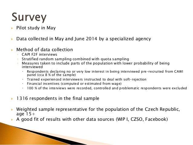 World Internet Project Czech republic 2014 Preliminary data presentation Slide 3