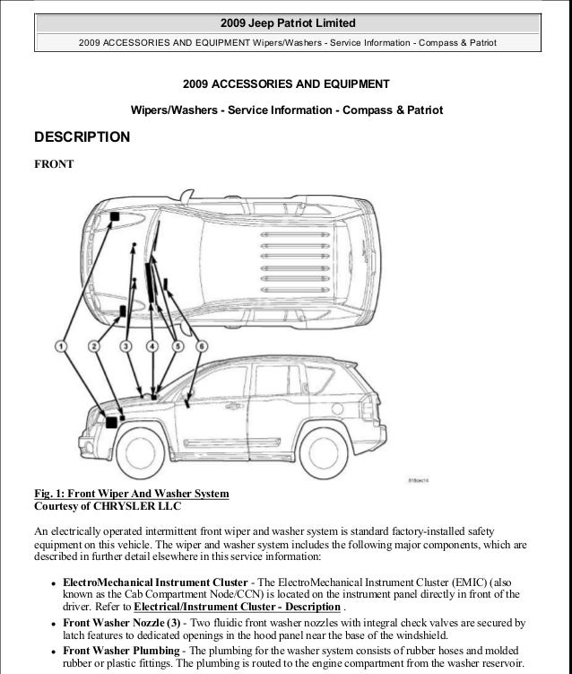manual reparacion jeep compass patriot limited 2007 2009 wiper wash rh slideshare net 2017 Jeep Compass Manual 2014 Jeep Compass Manual