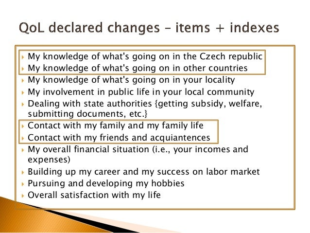  My knowledge of what's going on in the Czech republic  My knowledge of what's going on in other countries  My knowledg...