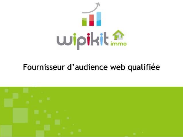 Fournisseur d'audience web qualifiée