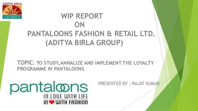 Aditya Birla Retail Ltd – Introduction of de Study