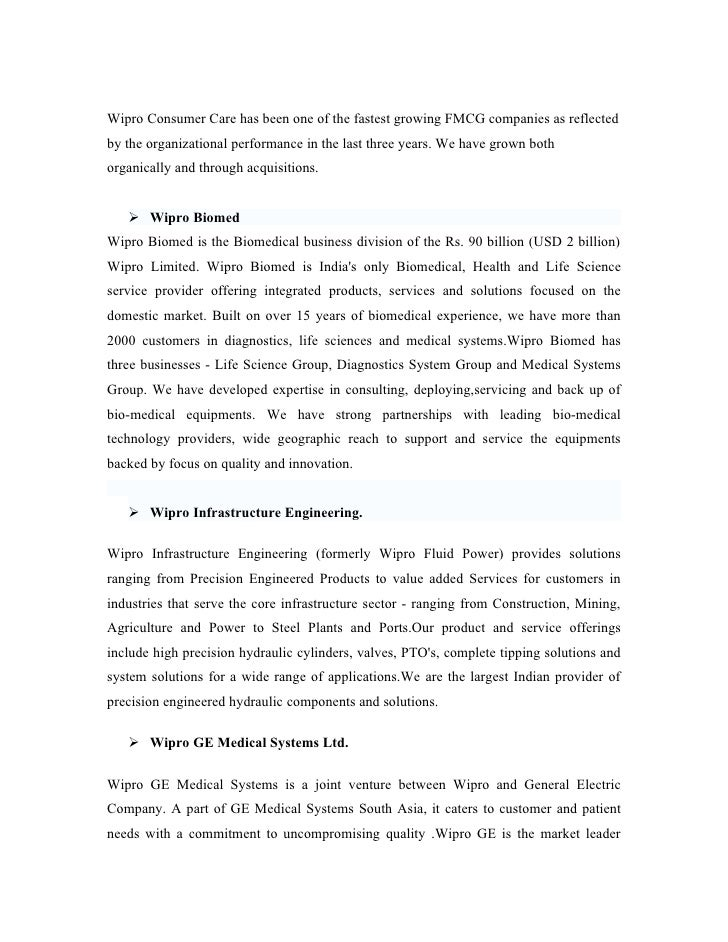 case study công ty wipro ltd