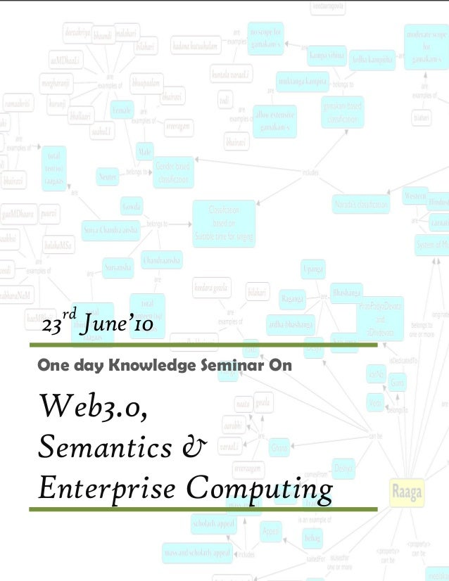 rd23 June'10One day Knowledge Seminar OnWeb3.0,Semantics &Enterprise Computing