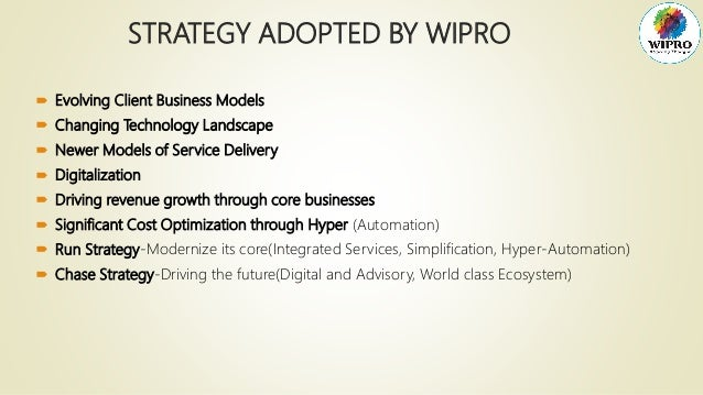wipro strategic analysis This is a research report on organizational structure - wipro by balajiv ganesh in marketing category it initially talks about the various strategic business units at wipro and the matrix structure prevalent in wipro.