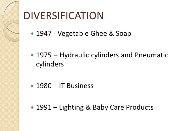 Diversification strategy of wipro
