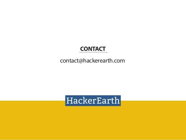 Intra company hackathons using HackerEarth