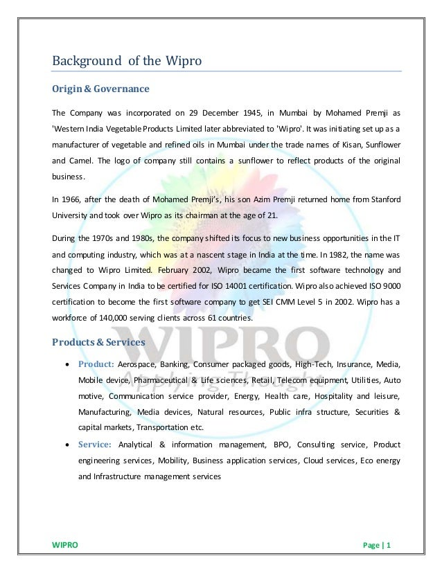 corporate governance at wipro » wipro's inorganic growth strategy and international acquisitions by the consumer care division » wipro's corporate governance strategies for integration.