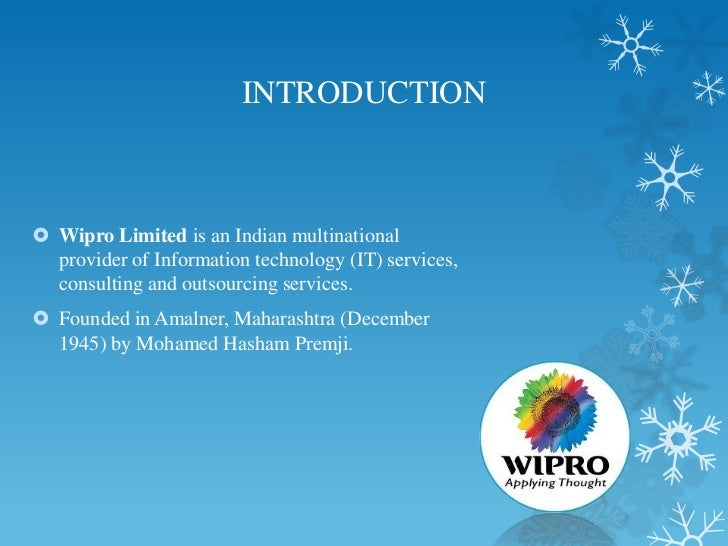 wipro business ethics Wipro limited , a leading global information technology, consulting and business process services company, today announced that it has been recognized by the ethisphere institute®, the global.
