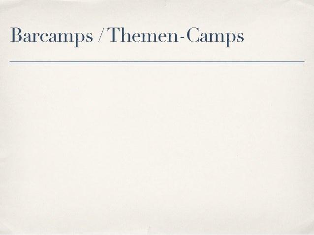 Barcamps / Themen-Camps